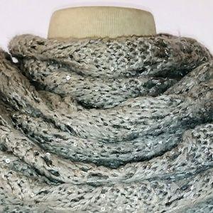 #hundredsofscarves: SILVER Knit Infinity Scarf